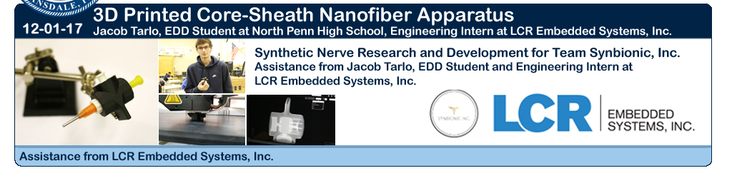 LCR Embedded Systems Assist With 3D Printing Core Sheath Apparatus for Research team at NPHS